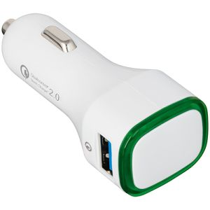 Promo in car charging adaptors for merchandise ideas