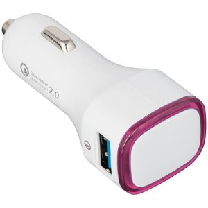 Printed in car charging adaptor for marketing gifts