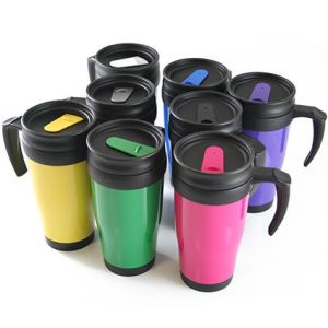 Printed thermal mugs with company logo