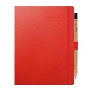 Branded Ivory Matra Large Weekly Diaries with Pencil for desks