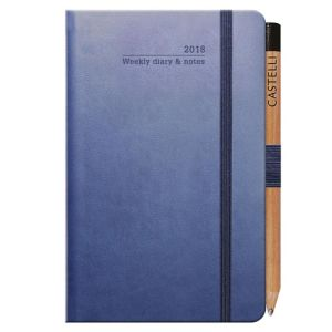 Promotional Ivory Tucson Pocket Weekly Diary with Pencil for desks