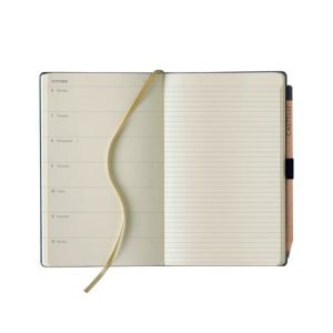 Embossed journals for workplace stationery page layout