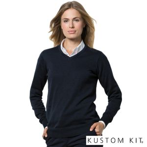 Kustom Kit Arundel Ladies V Neck Sweatshirts