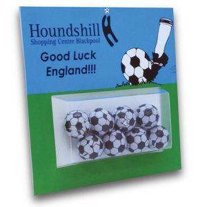 Large Chocolate Football Promocards
