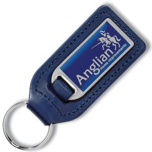 Branded Leather Keyrings for Company Merchandise