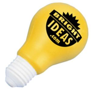 Stress Light Bulb in Off White/ Yellow