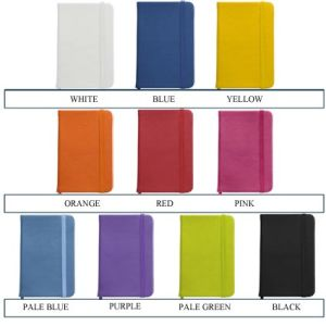 Branded business notebooks for marketing items