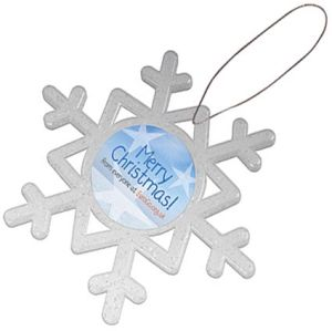 Whether used as a magnet or to hang from Christmas trees, these Magnetic Snowflakes will keep your branding visible!