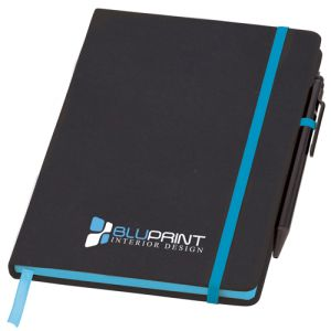 Promotional Medium Noir Edge Notebooks with company logos