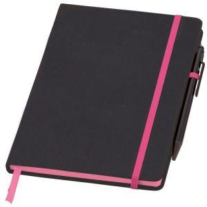Printed notebooks for desktop advertising