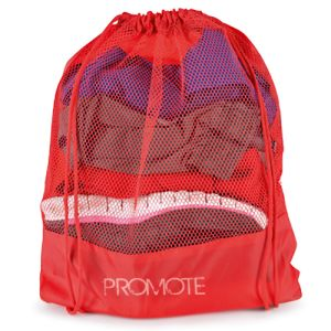 Pick from 3 different colours for these promotional Mesh Drawstring Bags