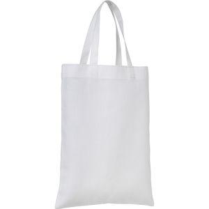 Mini Cotton Gift Bags in White