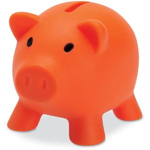Mini Piggy Banks in Orange