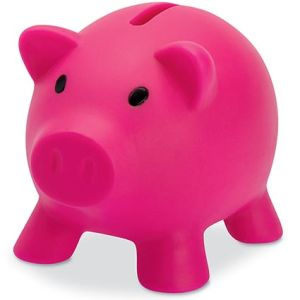 Mini Piggy Banks in Pink