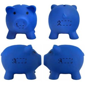 Mini Piggy Banks in Blue