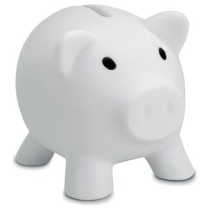 Mini Piggy Banks in White