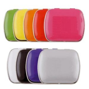 Personalised Mini Rectangle Mint Tins are available in 9 popular colours to choose from