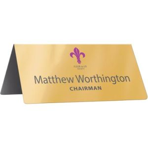 Branded Nameplates for Company Handouts