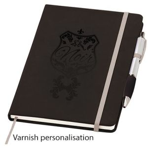 Corporate branded notebooks for desks