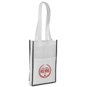These promotional Non Woven Double Bottle Bags are made from eco-friendly materials