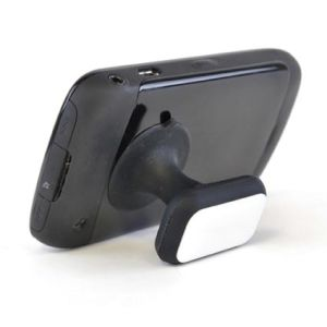 The suction-grip printed phone holder attaches easily to smartphones, tablet devices & more.