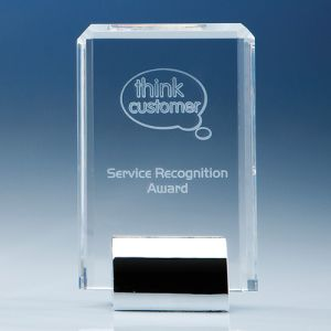 Optical Crystal Rectangular Mounted Awards