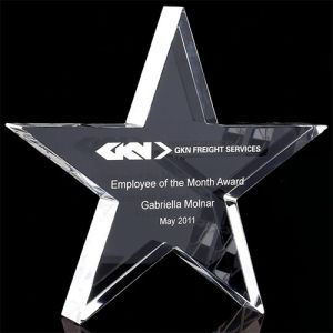 Promotional Optical Crystal Star Paperweights for Company Gifts