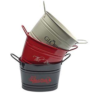 Oval Metal Buckets