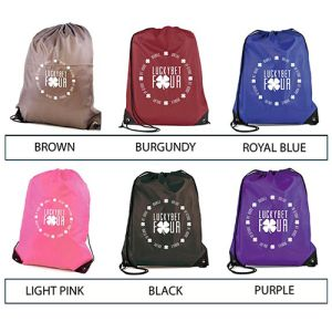 Branded backpacks with company logos