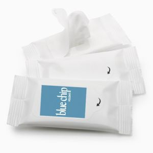 Pack of 5 Wet Wipes in White