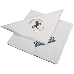 Promotional napkins with business logos