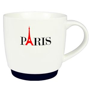 Paris Silicon Base Mugs in White