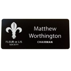 Corporate branded name badges for staff marketing