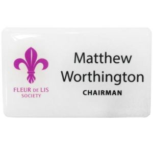 Custom printed name badges for conferences
