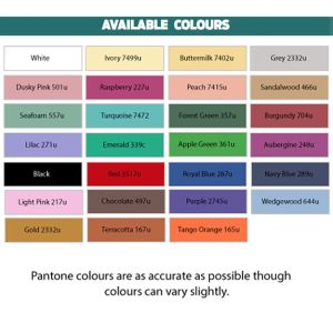 Branded Table Cloths for exhibitions in a range of colours