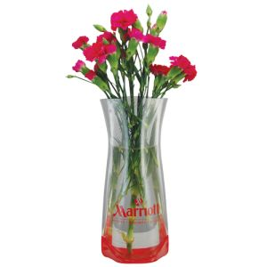 Pop Up Vases in Clear/Red