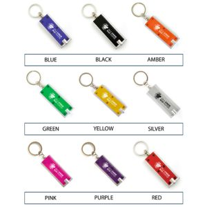Promotional keyfob torches with company branding