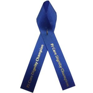 Printed Campaign Ribbons in Blue