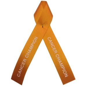 Printed Campaign Ribbons in Orange