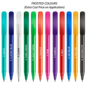 Printed ballpens for workplaces colours
