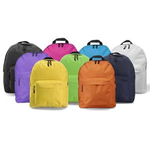 Corporate branded backpacks for event giveaways colours