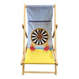 Each of these printed deck chairs is made from 100% beechwood