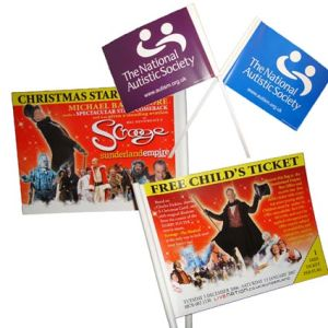 Corporate branded flags for exhibitions