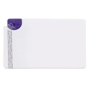 Push Button Mint Cards in White/Blue