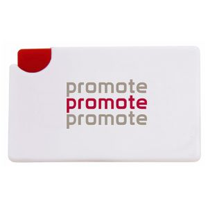 Push Button Mint Cards in White/Red