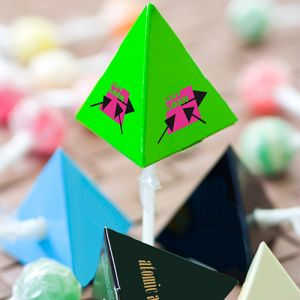 Pyramid Boxed Lollipops