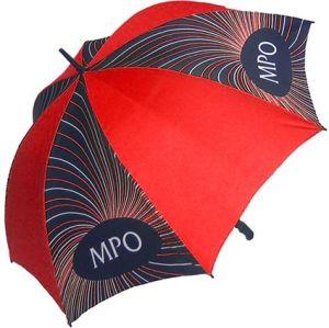 Branded Fibrestorm Golf Umbrella with company logos