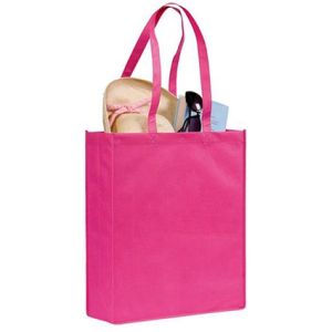 Pink Branded shopper bags for exhibitions