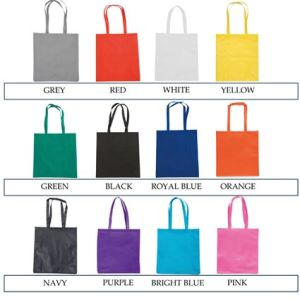 Custom branded bags for company gifts colours