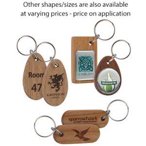 Real Wood Oval Keyrings